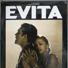 Cine: E1314 EVITA MADONNA ANTONIO BANDERAS ALAN PARKER POSTER ORIGINAL 70X100 ESTRENO. Lote 128512947