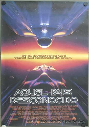 E1335 STAR TREK 6 AQUEL PAIS DESCONOCIDO SHATNER NIMOY POSTER ORIGINAL ESTRENO 70X100 (Cine - Posters y Carteles - Ciencia Ficción)