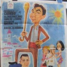 Cine: POSTER : ¡AQUÍ MANDO YO!- ORIGINAL 1966. MARCHENT RAFAEL R. (DIRECTOR), JANO (CARTELISTA). CODESO,... Lote 28088610
