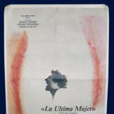 Cine: LA ULTIMA MUJER - THE LAST WOMAN - MARCO FERRERI - GERARD DEPARDIEU - ORNELLA MUTI - CARTEL 1978. Lote 31977437
