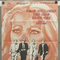 Cine: OI26 PANICO VIRNA LISI ROBERT HOSSEIN CHARLES AZNAVOUR POSTER ORIGINAL ESTRENO 70X100. Lote 28533611