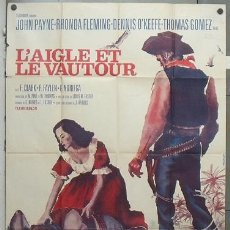 Cine: OI49 THE EAGLE AND THE HAWK JOHN PAYNE RHONDA FLEMING POSTER ORIGINAL FRANCES 120X160 . Lote 28575649