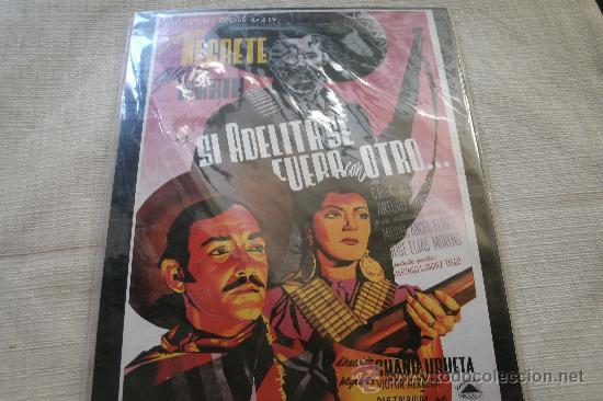 CARTEL DE MADERA, SI ADELITA SE FUERA CON OTRO ...... - 31,5 X 20,5 CM / EMBALADO T A ESTRENAR !!!! (Cine - Posters y Carteles - Musicales)