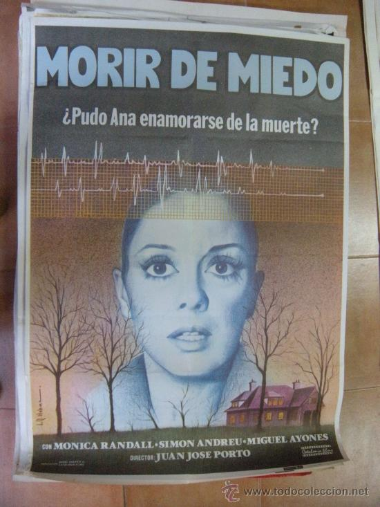 CARTEL DE CINE MORIR DE MIEDO. 100 X 70 CM. (Cine - Posters y Carteles - Terror)