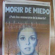Cine: CARTEL DE CINE MORIR DE MIEDO. 100 X 70 CM.. Lote 28571853