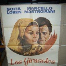 Cine: LOS GIRASOLES SOFIA LOREN MASTROIANNI DE SICA POSTER ORIGINAL 70X100 JANO D55. Lote 28581655