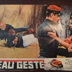 Cine: POSTER ORIGINAL BEAU GESTE GUY STOCKWELL DOUG MCCLURE LESLIE NIELSEN TELLY SAVALAS DOUGLAS HEYES1966. Lote 28596358