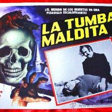 Cine: LA TUMBA MALDITA ( LOBBY CARD ORIGINAL) TERROR MEXICANO DE CULTO MARK DAMON. Lote 28604154