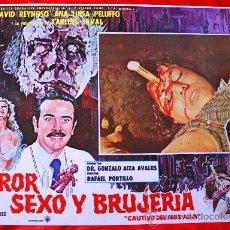 Cine: TERROR SEXO Y BRUJERIA 1968 (LOBBY CARD ORIGINAL) TERROR MEXICANO DE CULTO. Lote 28604378