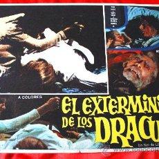 Cine: LA SAGA DE LOS DRACULA (LOBBY CARD ORIGINAL) TERROR ESPAÑOL DE CULTO LEON KLIMOVSKY. Lote 28604484