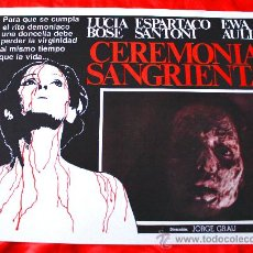 Cine: CEREMONIA SANGRIENTA (LOBBY CARD ORIGINAL) TERROR ESPAÑOL DE CULTO LUCIA BOSE DIRECTOR JORGE GRAU. Lote 28604708