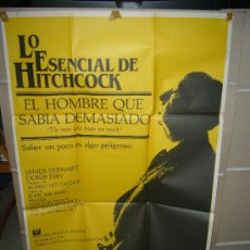 Cinema - EL HOMBRE QUE SABIA DEMASIADO ALFRED HITCHCOCK POSTER ORIGINAL 70X100 q - 28624154