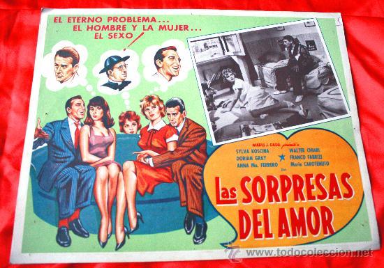 LAS SORPRESAS DEL AMOR 1959 (LOBBY CARD ORIGINAL) SYLVA KOSCINA WALTER CHIARI DORIAN GRAY (Cine - Posters y Carteles - Comedia)