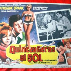 Cine: JOVENES AL SOL 1962 (LOBBY CARD ORIGINAL) GIANNI GARKO CATHERINE SPAAK LISA GASTONI. Lote 28626564