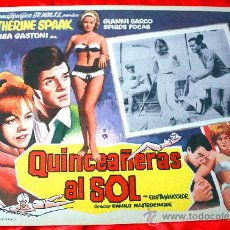 Cine: JOVENES AL SOL 1962 (LOBBY CARD ORIGINAL) GIANNI GARKO CATHERINE SPAAK LISA GASTONI. Lote 28626587