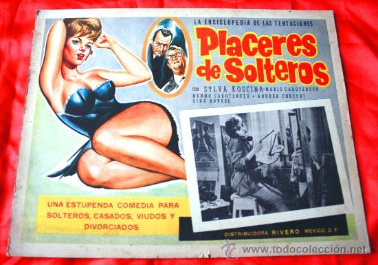 PLACERES DE SOLTEROS 1960 (LOBBY CARD ORIGINAL) SYLVA KOSCINA MARIO CAROTENUTO (Cine - Posters y Carteles - Comedia)