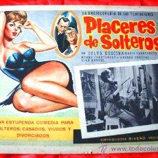 Cine: PLACERES DE SOLTEROS 1960 (LOBBY CARD ORIGINAL) SYLVA KOSCINA MARIO CAROTENUTO. Lote 28626801