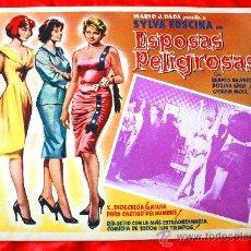 Cine: MUJERES PELIGROSAS 1958 (LOBBY CARD ORIGINAL) SYLVA KOSCINA DORIAN GRAY RENATO SALVATORI. Lote 28626867