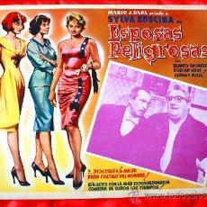 Cine: MUJERES PELIGROSAS 1958 (LOBBY CARD ORIGINAL) SYLVA KOSCINA DORIAN GRAY RENATO SALVATORI. Lote 28626904