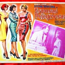 Cine: MUJERES PELIGROSAS 1958 (LOBBY CARD ORIGINAL) SYLVA KOSCINA DORIAN GRAY RENATO SALVATORI. Lote 28626933