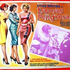 Cine: MUJERES PELIGROSAS 1958 (LOBBY CARD ORIGINAL) SYLVA KOSCINA DORIAN GRAY RENATO SALVATORI. Lote 28626990