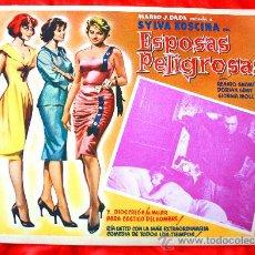 Cine: MUJERES PELIGROSAS 1958 (LOBBY CARD ORIGINAL) SYLVA KOSCINA DORIAN GRAY RENATO SALVATORI. Lote 28627023