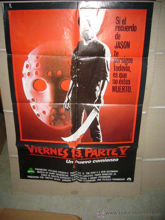 VIERNES 13 5 UN NUEVO COMIENZO POSTER ORIGINAL 70X100 WW (Cine - Posters y Carteles - Terror)