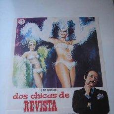 Cinema: POSTER ORIGINAL DE LA PELÍCULA DOS CHICAS DE REVISTA.. Lote 28757314