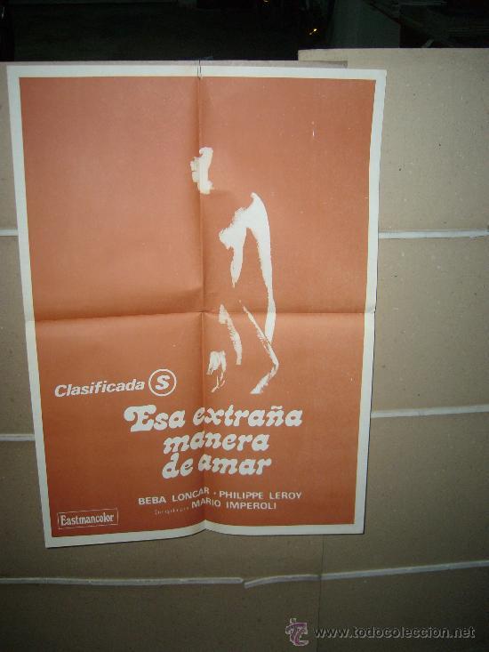 ESA EXTRAÑA MANERA DE AMAR PHILIPPE LEROY POSTER ORIGINAL 60X50 D270 (Cine- Posters y Carteles - Drama)