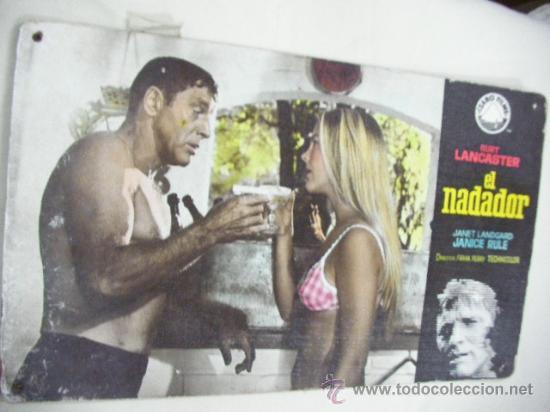 CARTEL ORIGINAL DE CINE DE LA EPOCA DE LA PELICULA EL NADADOR DE BURT LANCASTER (Cine - Posters y Carteles - Deportes)