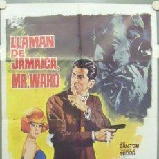 Cine: OK30 LLAMAN DE JAMAICA MR. WARD RAY DANTON EURO SPY POSTER ORIGINAL 70X100 ESTRENO. Lote 28926136