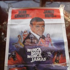 Cine: CARTEL CINE JAMES BOND SEAN CONNERY NUNCA DIGAS NUNCA JAMAS 1983 KIM BASINGER. Lote 28968199
