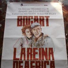 Cine: LA REINA DE AFRICA HUMPREY BOGART CARTEL CINE ORIGINAL. Lote 52358092