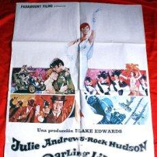 Cine: DARLING LILI 1970 (CARTEL ORIGINAL ESTRENO EN ESPAÑA) ROCK HUDSON JULIE ANDREWS. Lote 29066393