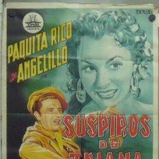 Cine: ON67 SUSPIROS DE TRIANA PAQUITA RICO ANGELILLO CIFESA POSTER ORIGINAL 70X100 DE ESTRENO LITOGRAFIA. Lote 29164956