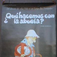 Cine: CARTEL DE ---- ¿QUE HACEMOS CON LA ABUELA? ----. Lote 29176251