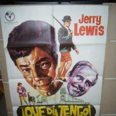 Cine: QUE DIA TENGO JERRY LEWIS POSTER ORIGINAL 70X100 POSTER ORIGINAL 70X100 YY(502). Lote 29253834