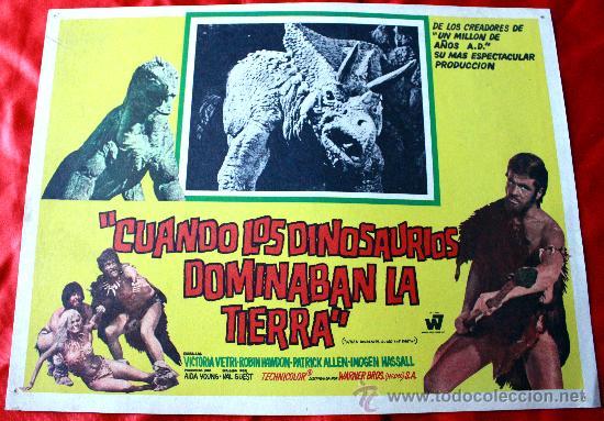 CUANDO LOS DINOSAURIOS DOMINABAN LA TIERRA 1970 (CARTEL ORIGINAL) VICTORIA VETRI (Cine - Posters y Carteles - Aventura)