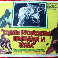 Cine: CUANDO LOS DINOSAURIOS DOMINABAN LA TIERRA 1970 (CARTEL ORIGINAL) VICTORIA VETRI. Lote 29324648