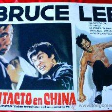 Cine: FURIA ORIENTAL (CONTACTO EN CHINA)1972 (CARTEL ORIGINAL) BRUCE LEE ESPECTACULAR CARTEL. Lote 29325217