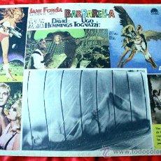 Cine: BARBARELLA 1968 (CARTEL ORIGINAL) JANE FONDA JOHN PHILLIP LAW UGO TOGNAZZI. Lote 29325450