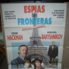 Cine: ESPIAS SIN FRONTERAS GENE HACKMAN MIKHAIL BARYSHNIKOV POSTER ORIGINAL 70X100 D32. Lote 29363912