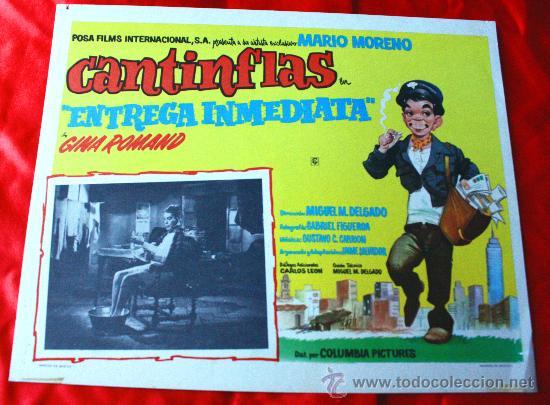 ENTREGA INMEDIATA 1963 (CARTEL ORIGINAL) MARIO MORENO CANTINFLAS (Cine - Posters y Carteles - Comedia)