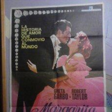 Cine: GRETA GARBO POSTER ORIGINAL DE LA PELICULA MARGARITA GAUTIER. Lote 29393563