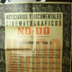 Cine: 167 CARTEL DEL NODO AÑO 1958 - VALENCIA - KENNEDY - HORTALEZA MADRID ETC. Lote 29518802