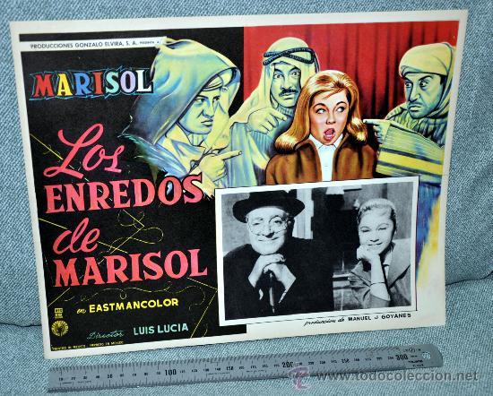 MARISOL - LOS ENREDOS DE MARISOL - AFICHE CARTELERA CINE - LOBBY CARD - GRAN TAMAÑO 355 X 278 MM. (Cine - Posters y Carteles - Musicales)