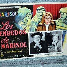 Cine: MARISOL - LOS ENREDOS DE MARISOL - AFICHE CARTELERA CINE - LOBBY CARD - GRAN TAMAÑO 355 X 278 MM.. Lote 29643386