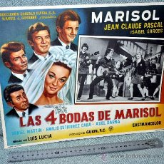 Cine: MARISOL - LAS 4 BODAS DE MARISOL - AFICHE CARTELERA DE CINE - LOBBY CARD - GRAN TAMAÑO 380 X 287 MM.. Lote 29643429