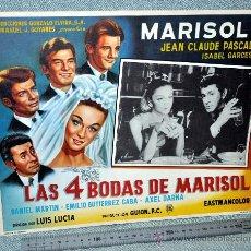 Cine: MARISOL - LAS 4 BODAS DE MARISOL - AFICHE CARTELERA CINE - LOBBY CARD - GRAN TAMAÑO 380 X 287 MM. Lote 29643443