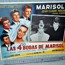Cine: MARISOL - LAS 4 BODAS DE MARISOL - AFICHE CARTELERA CINE - LOBBY CARD - GRAN TAMAÑO 380 X 287 MM.. Lote 29643461